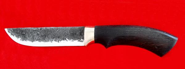 """Охотничий нож """"Грибник"""" ручная ковка, клинок сталь 9ХС, рукоять венге"""