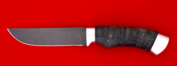 "Охотничий нож ""Грибник"", клинок сталь Х12МФ, рукоять кожа, металл"