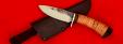 """Охотничий нож """"Соболь-2"""", клинок сталь 95Х18 со следами ковки, рукоять береста"""