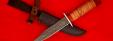 """Нож """"Разведчик"""", клинок дамасская сталь, рукоять береста"""
