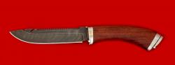 """Нож """"Рыбацкий"""", клинок дамасская сталь, рукоять бубинга, мельхиор"""