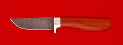 Нож Дорожный, клинок дамасская сталь, рукоять падук