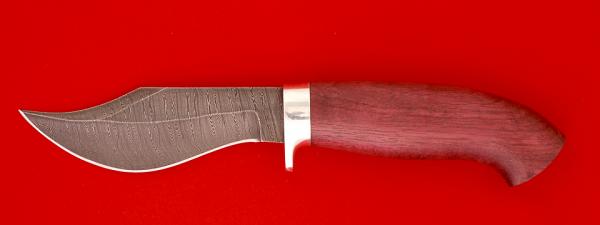 "Нож ""Носорог"", клинок дамасская сталь, рукоять амарант"