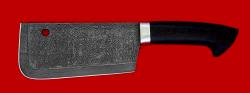 Нож Тяпка мясницкая, клинок дамасская сталь, рукоять венге