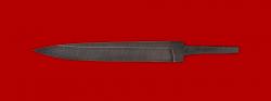 Клинок для ножа Егерь, дамасская сталь