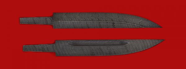 """Клинок для ножа """"Якутский большой"""", дамасская сталь"""