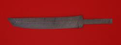 Клинок для ножа Самурай большой, дамасская сталь