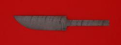 Клинок для ножа Грибник малый, дамасская сталь