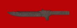 Клинок для ножа Пиранья, дамасская сталь