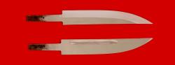 Клинок для ножа Якутский большой, сталь 95Х18