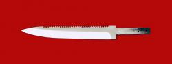 Клинок для ножа Егерь с насечкой, сталь 95Х18