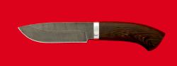 Охотничий нож Тюлень, клинок дамасская сталь, рукоять венге