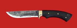 Нож Грибник-2 цельнометаллический, клинок сталь 9ХС, рукоять микарта (черная)