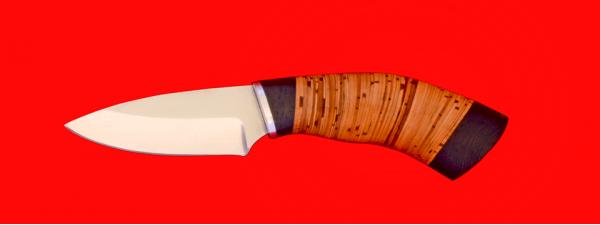 "Нож ""Шершень"", клинок сталь 65Х13, рукоять береста"