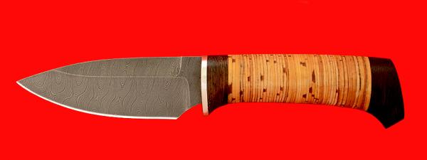 """Нож """"Хирург"""", клинок дамасская сталь, рукоять береста"""