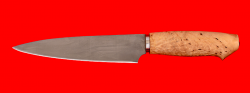 Нож Кухонный средний, клинок сталь Х12МФ, рукоять карельская берёза