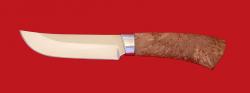 Охотничий нож Куница, клинок сталь 65Х13, рукоять карельская берёза