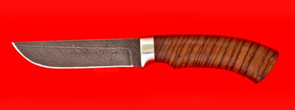 """Охотничий нож """"Грибник"""", дамасская сталь, рукоять зебрана"""
