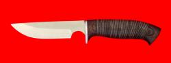 Охотничий нож Медведь, клинок сталь 65Х13, рукоять кожа