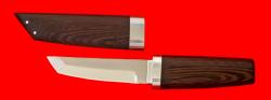 Нож Самурай малый, клинок сталь 95Х18, рукоять венге, деревянный чехол