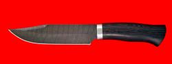 Нож Промысловый большой, клинок дамасская сталь, рукоять венге