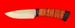 Охотничий нож Соболь, клинок сталь 65Х13, рукоять береста