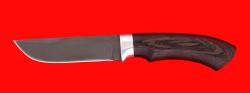 Охотничий нож Грибник, клинок сталь Х12МФ, рукоять венге