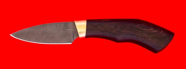 """Нож """"Шершень Магнум"""", клинок дамасская сталь, рукоять венге"""