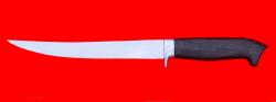 Филейный нож Судак большой, клинок сталь 65Х13, рукоять блэквуд