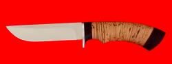 Охотничий нож Грибник-2, клинок сталь ELMAX, рукоять береста