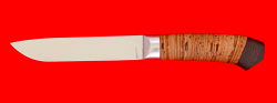 Нож Карачаевский (Бычак), клинок сталь ELMAX, рукоять береста