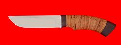 Охотничий нож Грибник, клинок сталь 65Х13, рукоять береста