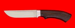 Охотничий нож Грибник, клинок сталь K340, рукоять блэквуд