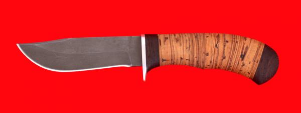 "Охотничий нож ""Филин"", клинок сталь Х12МФ, рукоять береста"