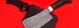 """Нож """"Тяпка"""", цельнометаллическая, клинок дамасская сталь, рукоять венге"""