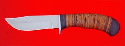 Охотничий нож Филин, клинок сталь 65Х13, рукоять береста