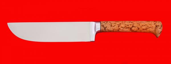 """Нож """"Узбекский"""", клинок сталь 65Х13, рукоять карельская берёза"""