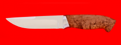Охотничий нож Марал, клинок сталь ELMAX, рукоять карельская берёза