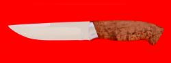 """Охотничий нож """"Марал"""", клинок сталь 65Х13, рукоять карельская берёза"""