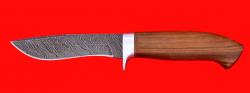 Охотничий нож Вальдшнеп-2, клинок дамасская сталь, рукоять орех