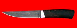 Охотничий нож Секач, клинок дамасская сталь, рукоять венге