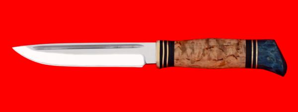 """Реплика """"Финка НКВД"""", без гарды, клинок кованая сталь У8, рукоять карельская береза"""