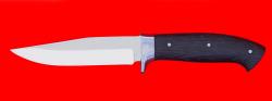 Нож Сокол, цельнометаллический, клинок сталь 65Х13, рукоять венге