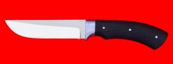 Охотничий нож Грибник, цельнометаллический, клинок сталь 65Х13, рукоять венге