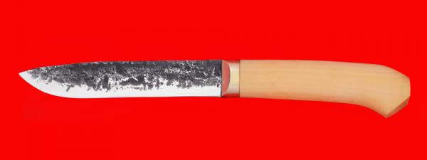 """Нож """"Карачаевский"""" (""""Бычак""""), ручная ковка, клинок сталь 9ХС, рукоять самшит"""