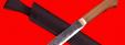 """Нож """"Карачаевский"""" (""""Бычак""""), ручная ковка, клинок сталь 9ХС, рукоять орех"""