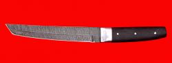 Нож Самурай большой, цельнометаллический, клинок дамасская сталь, рукоять венге