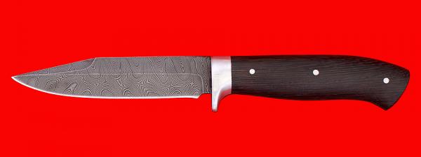 """Нож """"Гюрза"""", цельнометаллический, клинок дамасская сталь, рукоять венге"""