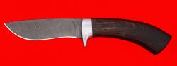 Охотничий нож Фазан, клинок дамасская сталь, рукоять венге