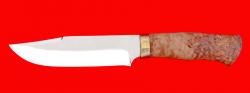 """Нож """"Промысловый большой"""", клинок порошковая сталь ELMAX, рукоять карельская берёза"""